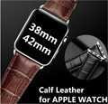Apple Watch Band 38mm 42mm Apple Watch Wristwatch Calf Leather Crocodile Pattern Pin Buckle Strap Iwatch Band 42mm+Tool