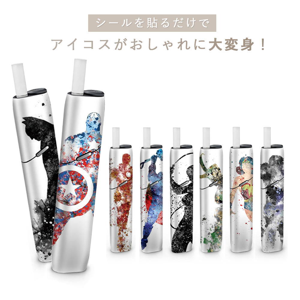 SHIODOKI IQOS3 MULTI Skin Decal for MULTI 2.5D Three Dimensional Touch <font><b>Sticker</b></font>-American hero-10% discount for 3 pieces image