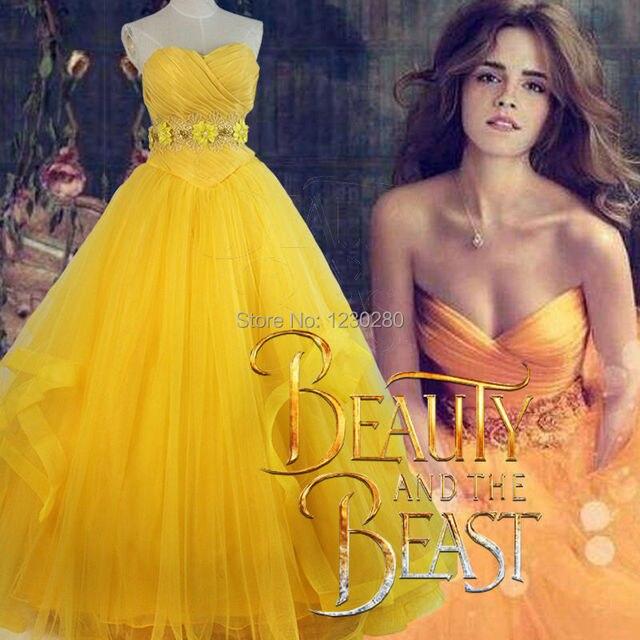 Schönheit und Das Biest 2017 Prinzessin Belle Cosplay Kostüm Neueste ...