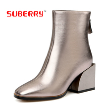 Botas Mujer Invierno 2017 High Quality Soft Genuine Leather Women Shoes Autumn Women Boots SUBERRY Brand Botte Femme Boots 34-43