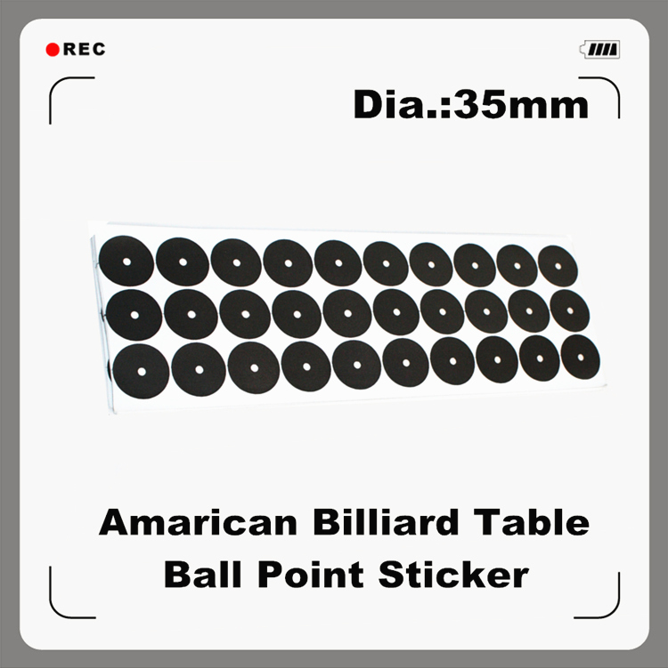 Billiards Table Ball Point Sticker 35mm