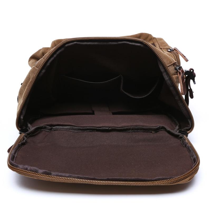 Vyrai Laptop Backpack 15 colių kuprinė drobė mokyklos krepšys - Kuprinės - Nuotrauka 4