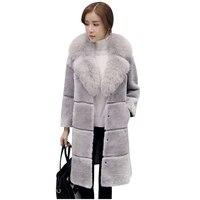 2017European American Women Winter Fur Coat New High End Fashion Temperament Sheep Sheared Fur Lapels Fur