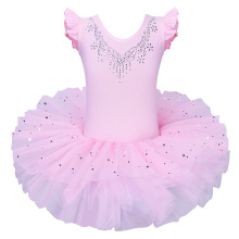 Freeshipping Girl Kid Dance Shoes Print Pink Leotard Ballet Tutu Dancewear Skate Party Show Dress SZ3-8Y not include Hair band