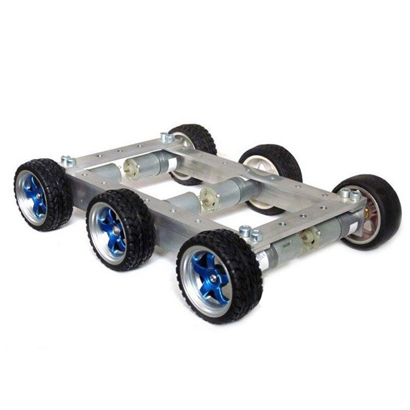 Diy 6wd 1:34 metal inteligente rc carro robô 330 rpm 0.24a controle remoto robô chassi base kit & 12 v CGM 25 370 motor crianças brinquedos - 2