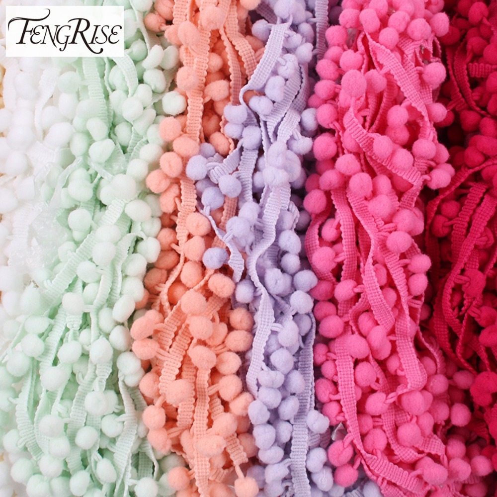 FENGRISE 10 yards 10mm Lace Pom...