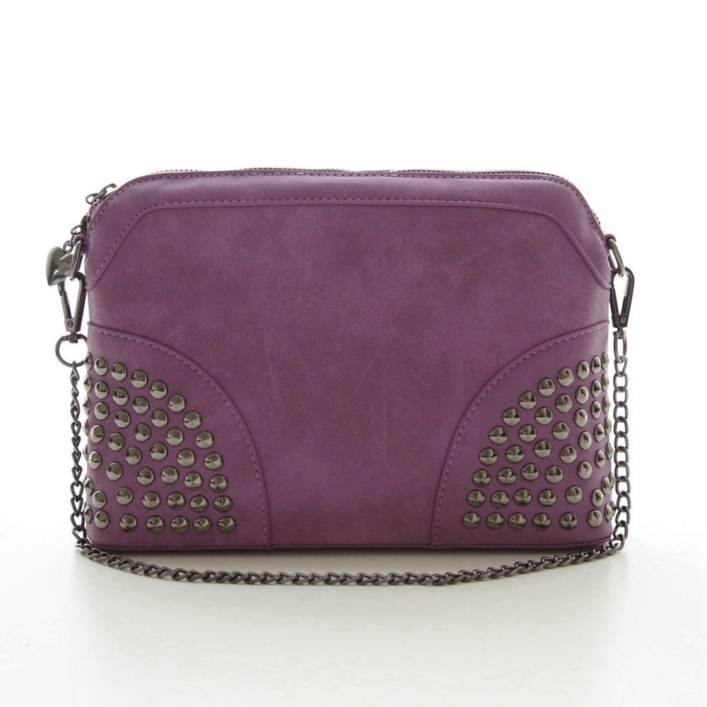 Rivet Shoulder Women Bag Vintage Scrub Shell Messenger Bags Chain Strap Crossbody Bag Clutch Bolsa Feminina Herald Fashion Brand (4)