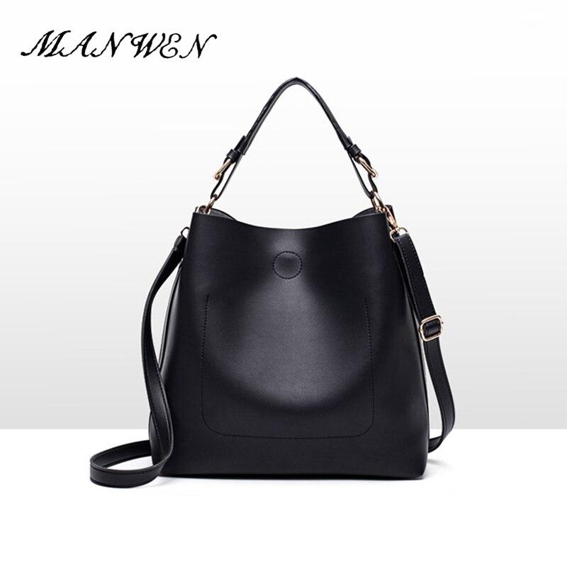 Women Handbags Solid Female Black PU Leather Shoulder Bags Ladies Handbag Top-Handle Messenger Bags Large Capacity Crossbody Bag gcr15 6022 zz or 6022 2rs 110x170x28mm high precision deep groove ball bearings abec 1 p0 1 pcs