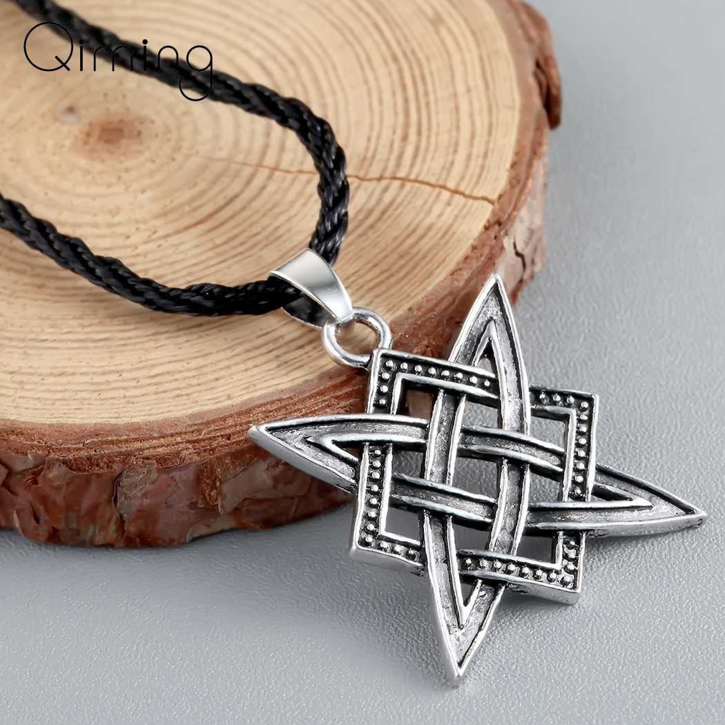Slavic Norway Valknut Viking Necklaces Male Women Men Pendant Star Rus Amulet Charm Retro Necklaces Talisman Jewelry Pagan