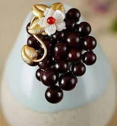 Amxiu Индивидуальные милый брошь виноград природный гранат мать устриц броши в форме морских раковин 925 пробы Серебряные ювелирные изделия