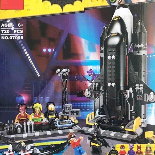 07098 BATMAN MOVIE the Bat-Space Shuttle 70923 Building Kit Bricks Blocks Toys Compatible 70923 bela 10626 batman movie the joker balloon escape man bat building block toys children gifts batman 70900