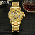 Essential 2016 New Fashion MCE mechanical skeleton gold automatic Ladies Watch Women Crystals Wrist watches Free Shipping 176
