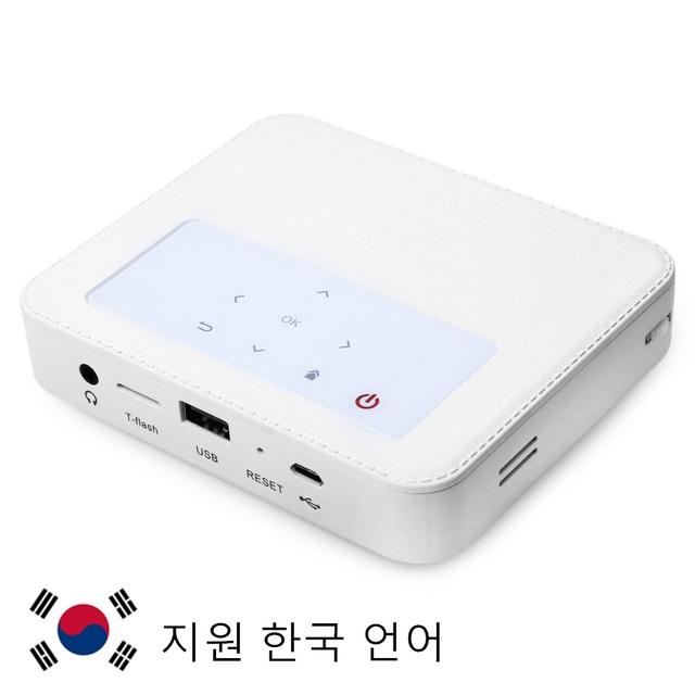 Haiway portátil h3000 wifi projetor dlp android 4.4 bt 854x480 RAM1GB 8 GB TV Box Com Cartão TF USB de Entrada de Casa teatro