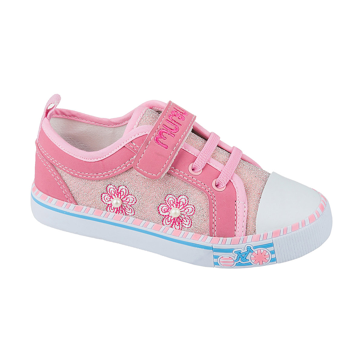 MURSU Children Casual Shoes 10611988 sneakers running shoes for children Pink sport Girls textile sneakers women trainers breathable print flower casual shoes woman 2018 summer mesh low top shoes zapatillas deportivas