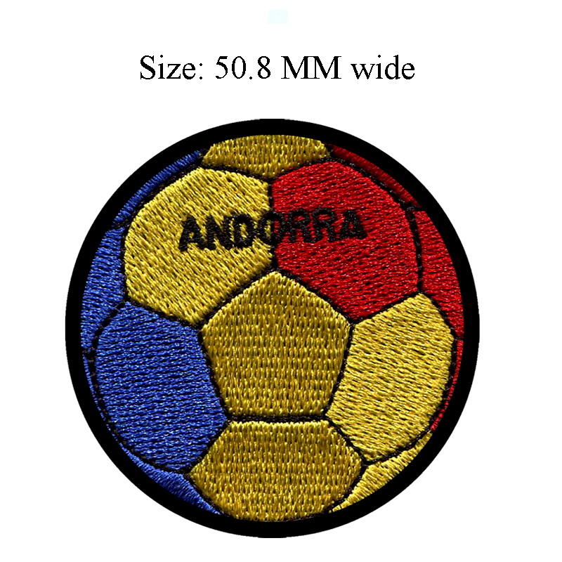 50.8MM wide soccer ball of ANDORRA patch football/shoe patch/cap patch ...