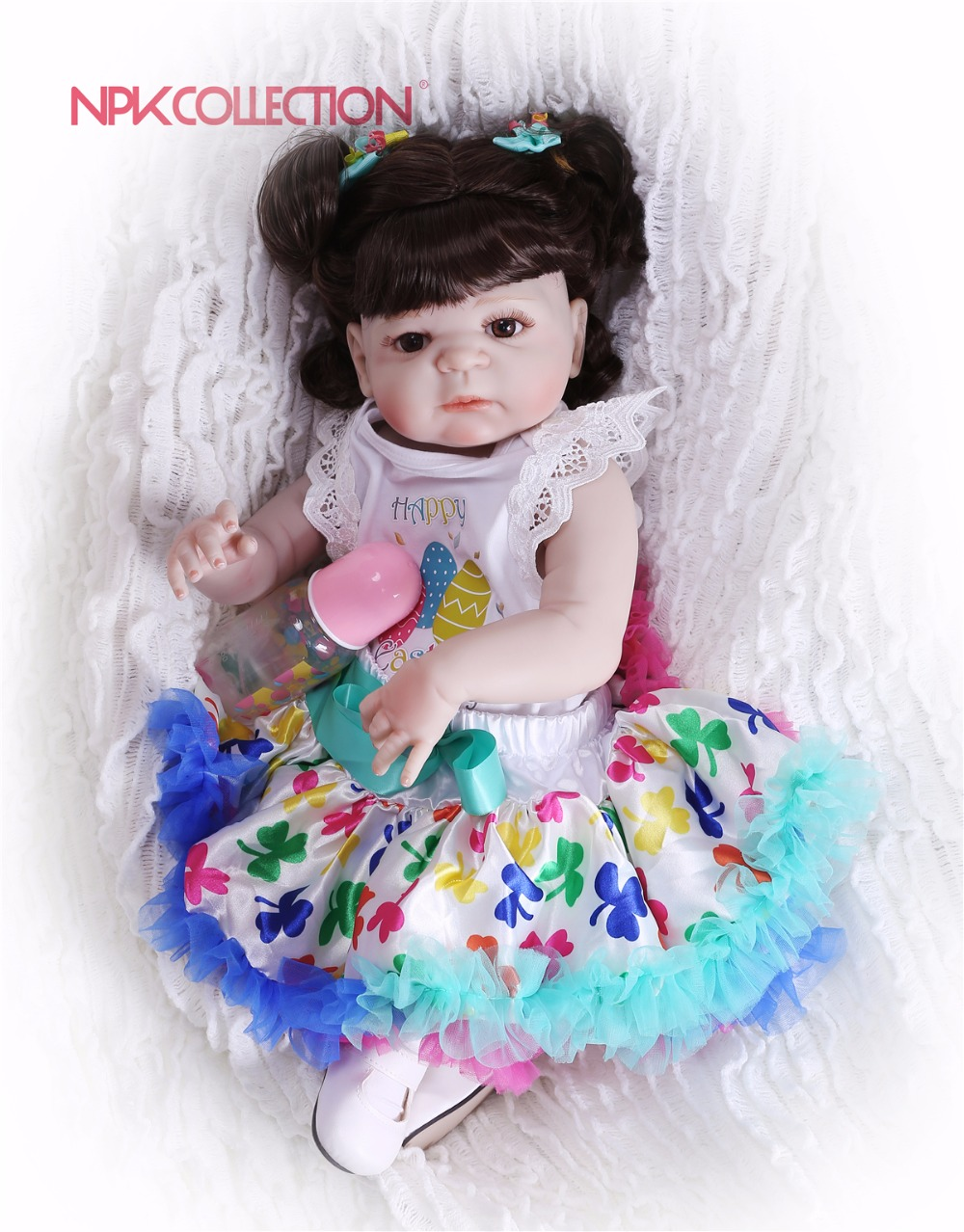 NPKCOLLECTION New Hairstyle Girl Doll Full Silicone Body Lifelike Bebes Reborn Princess Girl Doll Handmade Baby Toy Xmas GiftsNPKCOLLECTION New Hairstyle Girl Doll Full Silicone Body Lifelike Bebes Reborn Princess Girl Doll Handmade Baby Toy Xmas Gifts