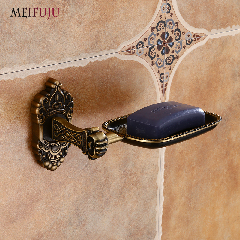 Soap Dishes Black Wall Mounted Soap Holder Antique Aluminum Soap Basket Dish for WC Bathroom Accessories Bronze Bath Products chinese food dishes book delicious cold dishes tasty dish recipes daquan