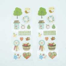 1Pcs New Cute botanical Sticker Flower Interesting Rain boots&Fence Stickers Children Kids Toy For Phone Notebook Bubble Sticker(China)