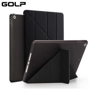 """GOLP Flip Cover for iPad Pro 12.9 case PU Leather Transparent PC Back Tablet Smart cover for iPad Pro 12.9\"""" 2020 2018 2017 2016 - DISCOUNT ITEM  24 OFF Computer & Office"""