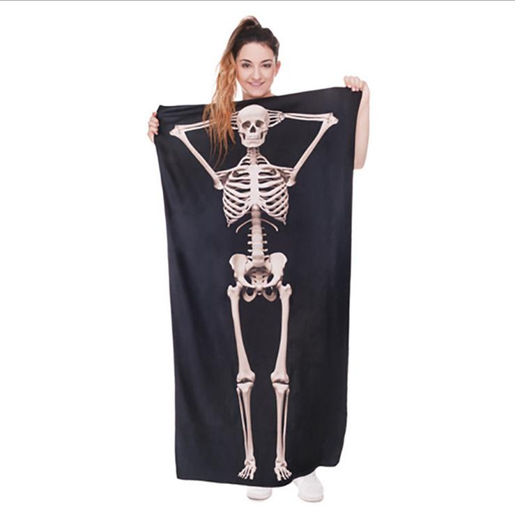 Beach <font><b>Towel</b></font> Fashion High Quality Bath <font><b>Towels</b></font> Swimming <font><b>Towel</b></font> Travel Blanket 3D Print Skull Animal Letter Halloween Gift 70*140cm