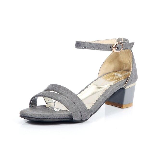 2016 Элегантных Женщин Сандалии Высокие Каблуки Открытым Носком Моды Туфли Летние Женские Большие Размеры Женской Обуви