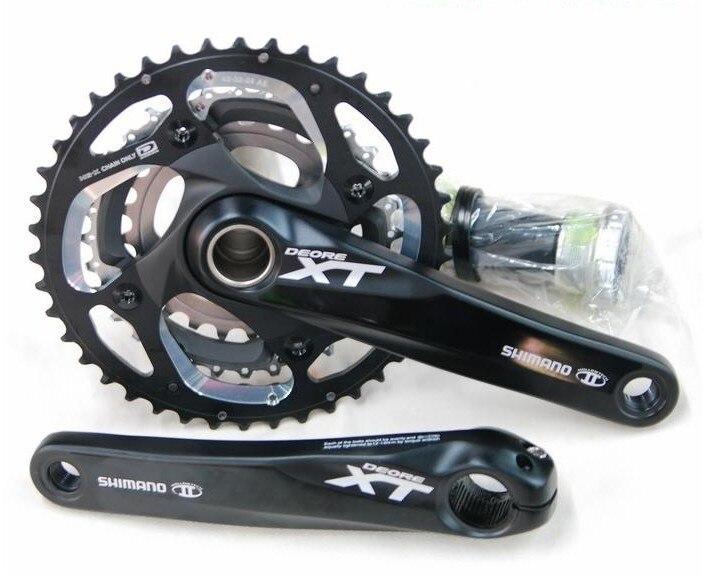 shimano XT m780 crankset 20s 3*10speeds mountain bike crank mtb xt crankset and bottom bracket bicycle crank запчасть shimano xt m780 170 мм 42 32 24t