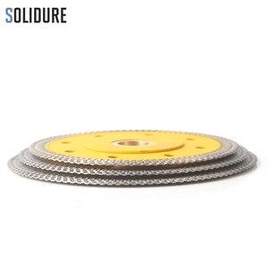 Image 5 - Disco circular de diamante sinterizado en caliente para cortar azulejos de porcelana, hoja de sierra de porcelana de diamante súper fino en forma de X de 105/115mm/125mm