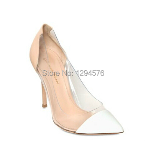 2014 new arrival gianvito rossi White and nude sheepskin patent leather  high heels women shoes-in Women s Pumps from Shoes on Aliexpress.com  063f59e72e65