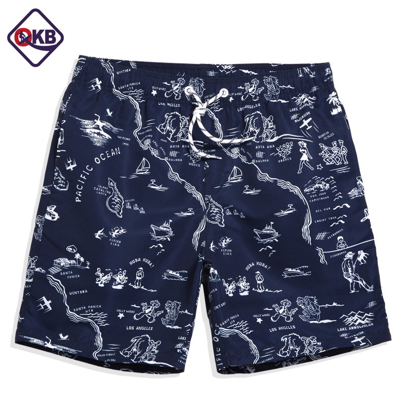 QIKERBONG Men Beach Shorts Board Boxer Trunks Short Casual Quick Drying Bermuda Short Bottoms Pantaloni Costumi da bagno da uomo Costumi da bagno