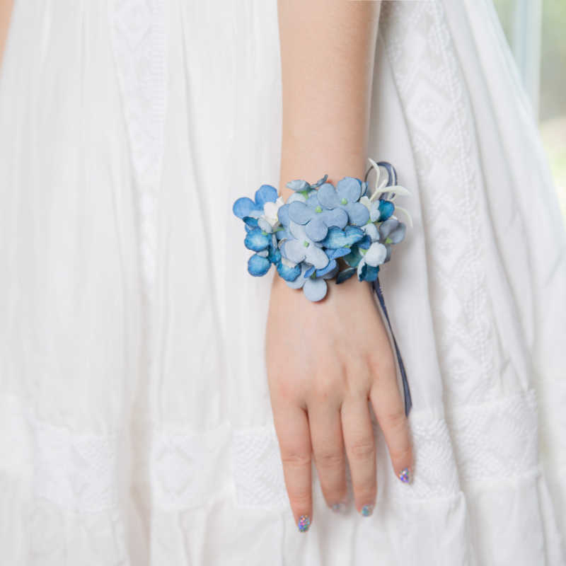 JaneVini Deep Blue ดอกไม้ Boutonniere สำหรับชายผ้าไหมกุหลาบงานแต่งงานพรหม Corsage ประดิษฐ์เจ้าบ่าวเจ้าบ่าว Buttonhole ดอกไม้ Pins