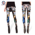2016 women leggings hot sale Roman myth printed free size high elastic Lady leisure casual casual Leggings woman pencil pants