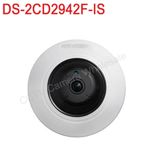 Free shipping DS-2CD2942F-IS English version 4MP Compact Fisheye Network CCTV Camera with Fisheye & PTZ view
