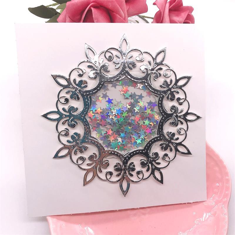 KLJUYP Elegant Doily Metal Cutting Dies Scrapbook Paper Craft Decoration Dies Scrapbooking 05297