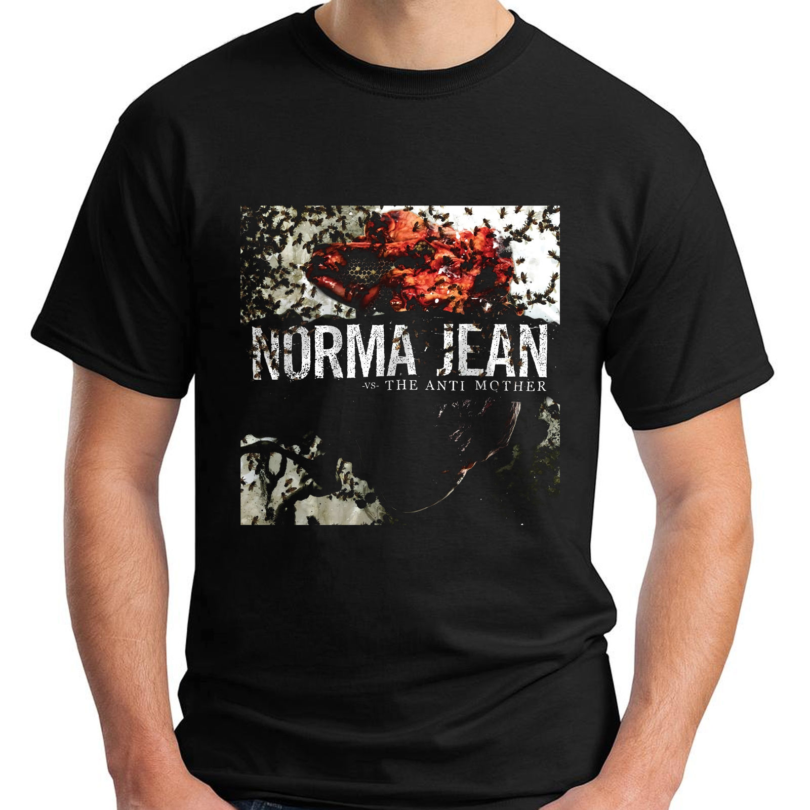 NORMA JEAN The Anti Mother Metalcore Band Sleeve Black Men's T-Shirt Size S-3XL 100% Cotton Short Sleeve Tops Tee T Shirts image