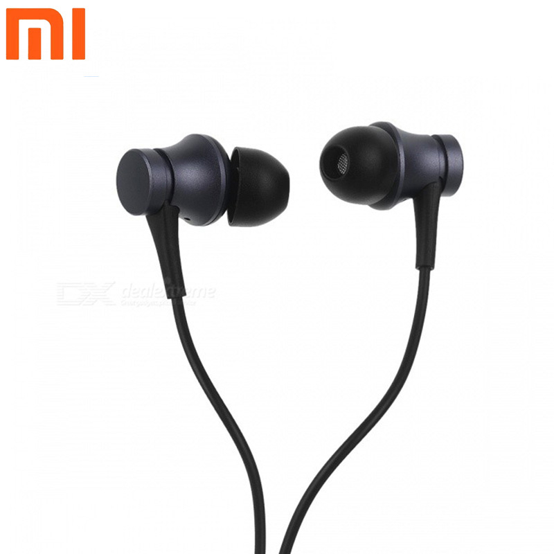 Original Mi Xiaomi Earphones 3 5MM In Ear Wired Control earphones Headset Piston Earbuds Fresh Youth Version With Microphone in Phone Earphones Headphones from Consumer Electronics