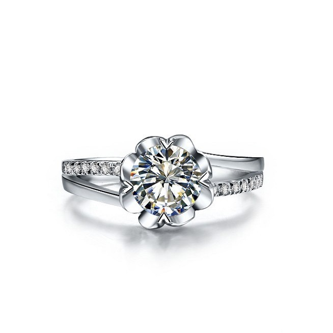 compare on diamond flower wedding rings online ping