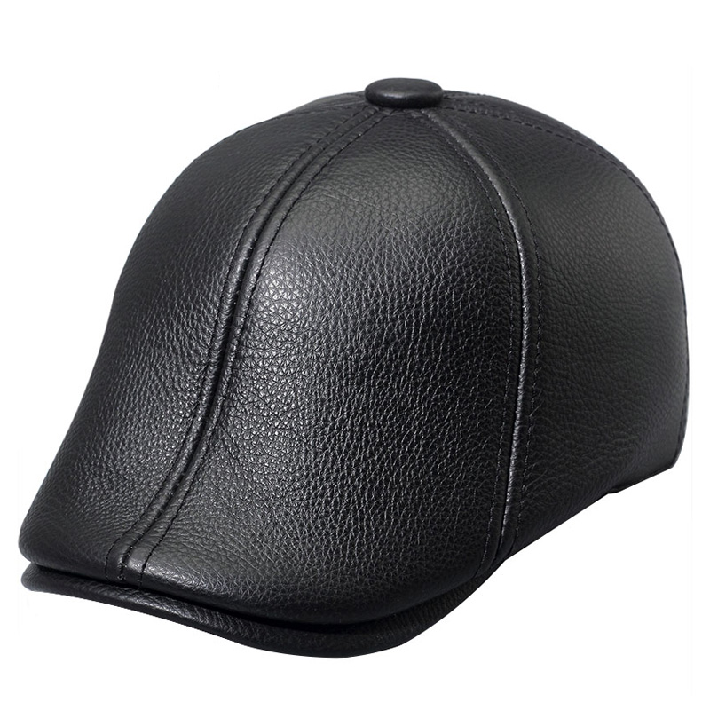 ZDFURS* genuine leather men baseball cap hat men's real skin leather adult solid adjustable hats caps with 3 colors aorice autumn winter genuine leather men cap hat brand new baseball cap fashion men s real leather hats caps with 3 colors hl097