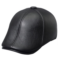ZDFURS* genuine leather men baseball cap hat men's real skin leather adult solid adjustable hats caps with 3 colors