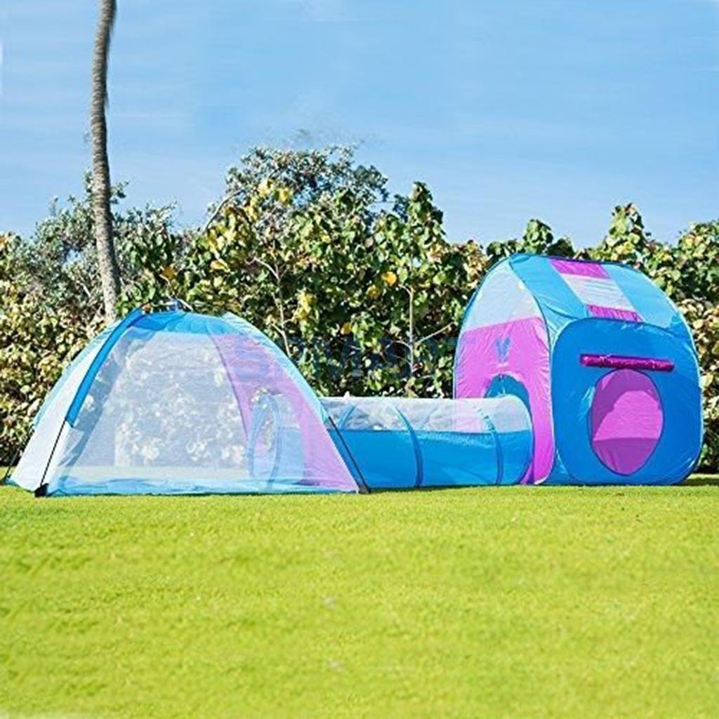 Enfants enfants Polyester Pop Up tente de jeu avec Tunnel 3-en-1 Playhut Ball Pit intérieur extérieur jouet pour Camping barbecue pique-nique jardin
