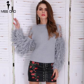 Handwork Tassel Knitted Sweater  Sweet Round Neck Long Sleeve