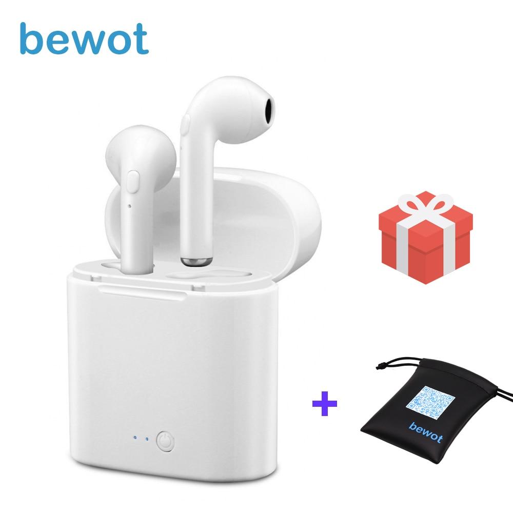 Bewot TWS i7 Bluetooth Kopfhörer Twins Kopfhörer Telefon Sport Headset in Ohr Knospen Wireless Stereo Kopfhörer Ohrhörer Für Xiaomi