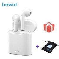Bewot TWS I7S Bluetooth Earphone Twins Headphones Phone Sport Headset In Ear Buds Wireless Stereo Earphones