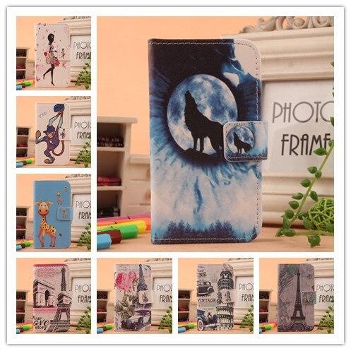Pour Philips S326 S626L S653 X586 S307 S309 S337 S396 S616 téléphone cas Mode Flip Peinture PU Couverture En Cuir Avec Porte-Cartes