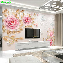 Custom 3D photo wallpaper three-dimensional relief Peony flowers living room TV background mural bedroom sofa decorative custom 3d stereo relief flowers mural photo wallpaper bedroom living room tv sofa backdrop wall mural home decor 3d panel wall