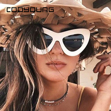 COOYOUNG Vintage Cat Eye Sunglasses Wome