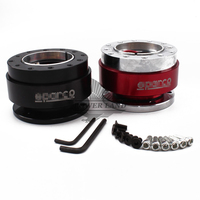 1pcs Car Styling Red Black Aluminum Steering Wheel Quick Release Hub Adapter Off Boss Kit Spco