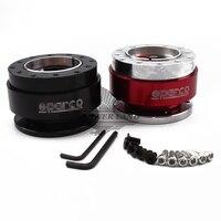 1pcs Car Styling Red Black Aluminum Steering Wheel Quick Release Hub Adapter Off Boss Kit Spco