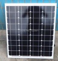 BUHESHUI High Quality 50W 18V Monocrystalline Solar Panel Used For 12V photovoltaic Power Home Diy Solar System NEW