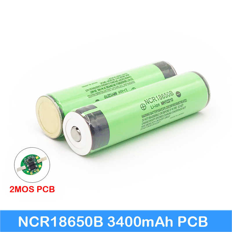 100% Original NCR18650B 18650 li-ion Rechargeable battery 3400mAh 3.7V with PCB For Laptop ues / Electronic cigarette use   JY12