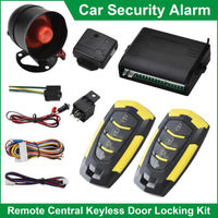 Universal Car Keyless Entry System Security Alarm System Immobiliser Car Central Locking with remote control